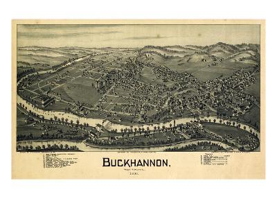 1900, Buckhannon Bird's Eye View, West Virginia, United States--Giclee Print