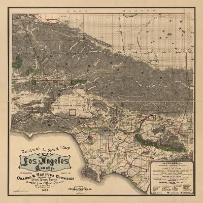 1900 LA Road Map-N^ Harbick-Art Print