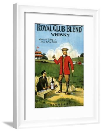 1900s UK Royal Club Blend Whisky Poster--Framed Giclee Print