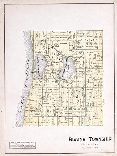 1901, Blaine Township, Herring Lake, Lake Michigan, Michigan, United States--Giclee Print