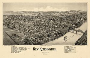 1902, New Kensington Bird's Eye View, Pennsylvania, United States