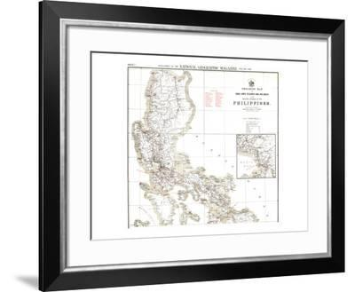 1902 Philippines Military Telegraph Lines North Map-National Geographic Maps-Framed Art Print