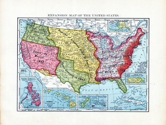 1902, United States Expansion Map, Nebraska, United States Giclee Print by  | Art.com