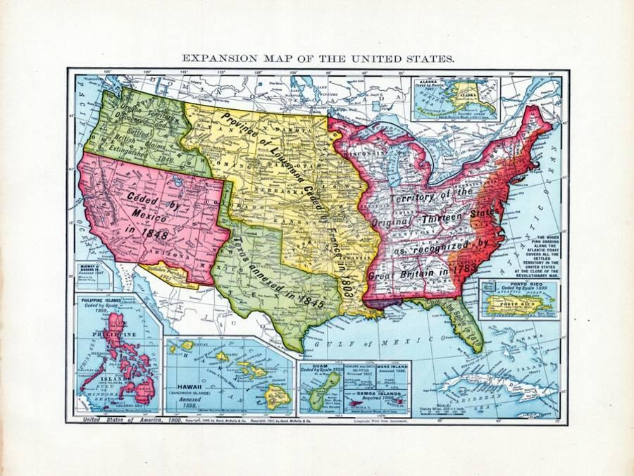 1902, United States Expansion Map, Neska, United States Giclee Print on europe map 1837, united states territories 1798 to 1846, new york map 1837, texas map 1837, canada map 1837, united states congressional districts,