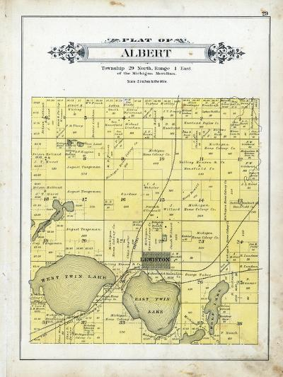 1903, Albert Township, Lewiston, Michigan, United States--Giclee Print
