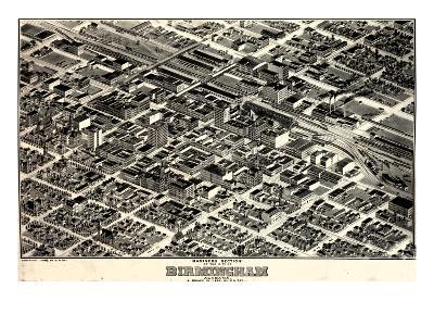 1903, Birmingham Bird's Eye View, Alabama, United States--Giclee Print