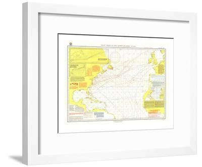 1903 Pilot Chart of the North Atlantic Ocean Map-National Geographic Maps-Framed Art Print