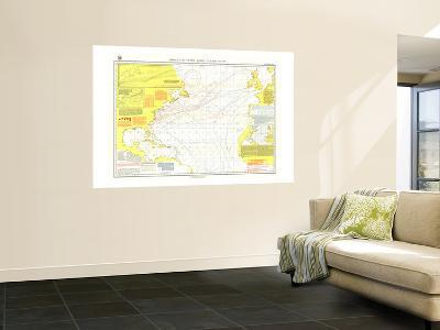 1903 Pilot Chart of the North Atlantic Ocean Map-National Geographic Maps-Wall Mural