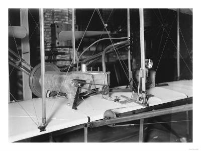 1903 Plane Motor from Wright Brothers' Shop Photograph-Lantern Press-Art Print