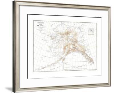 1904 Alaska Map-National Geographic Maps-Framed Art Print