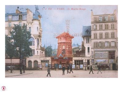 1904 Carte Postal Moulin Rouge--Giclee Print
