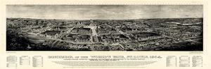 1904, Saint Louis World's Fair Bird's Eye View Published by Melville, Missouri, United S