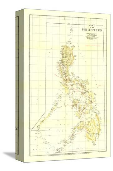 1905 Philippines Map-National Geographic Maps-Stretched Canvas Print