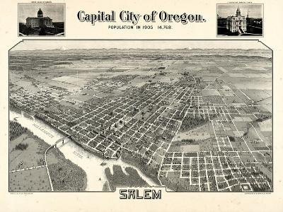 1905, Salem Bird's Eye View, Oregon, United States--Giclee Print