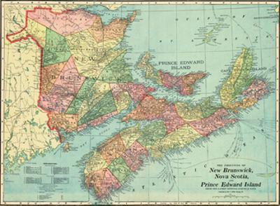 1906, Canada, New Brunswick, Nova Scotia, Prince Edward Island, North America, New Brunswick