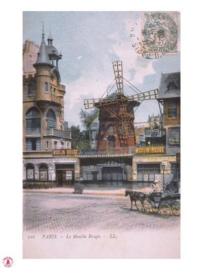1906 carte postale Moulin Rouge--Giclee Print