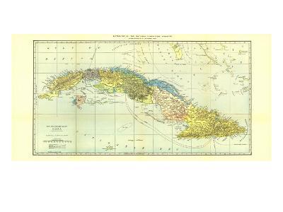 1906 Cuba Map-National Geographic Maps-Art Print