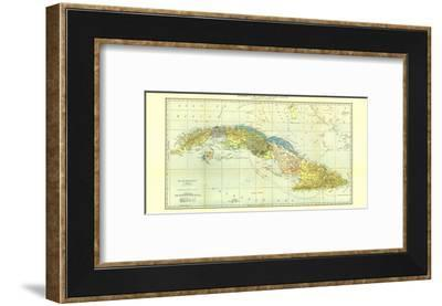 1906 Cuba Map-National Geographic Maps-Framed Art Print
