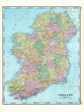 photograph regarding Printable Maps of Ireland called Desirable Maps of Eire art for sale, Posters and