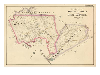 1906, North Caldwell and West Caldwell Borough, New Jersey, United States--Giclee Print
