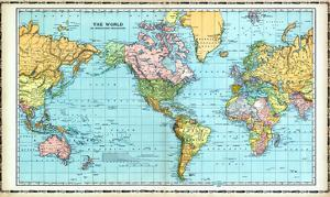 1906, World Map