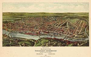 1907, Philadelphia Manayunk - Bird`s Eye View, Pennsylvania, United States