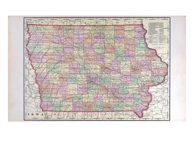 graphic relating to Printable Map of Iowa titled 1908, Iowa Place Map, Iowa, United Says Giclee Print as a result of