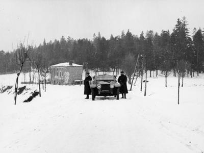 1909 Rolls-Royce Silver Ghost in Snow, France, C1909