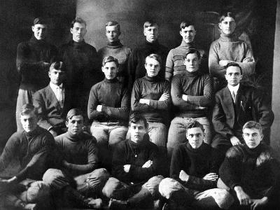1910 Abilene High School Football Team, on Which President Dwight Eisenhower Played--Photo