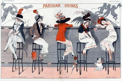 1910s France La Vie Parisienne Magazine Plate