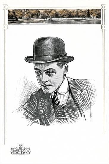 1910s Men's Hat Illustration--Art Print