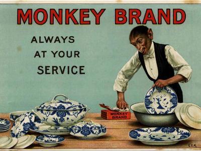 1910s UK Monkey Brand Magazine Advertisement--Giclee Print