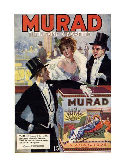 1910s USA Murad Magazine Advertisement--Giclee Print