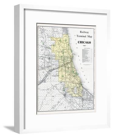1911, Chicago Railroad Map 1911, Illinois, United States