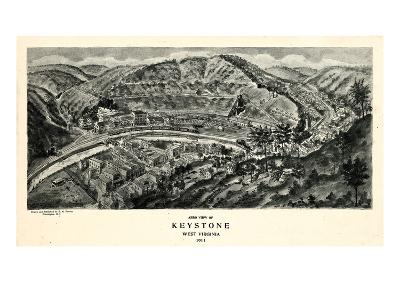 1911, Keystone Aero View 17x29, West Virginia, United States--Giclee Print