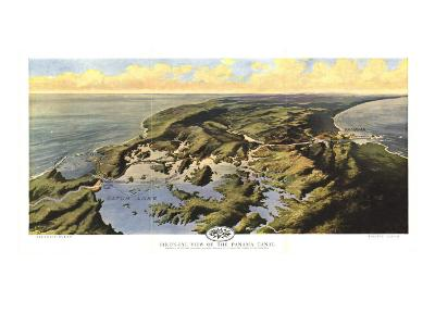 1912 Birds Eye View of the Panama Canal Map-National Geographic Maps-Art Print