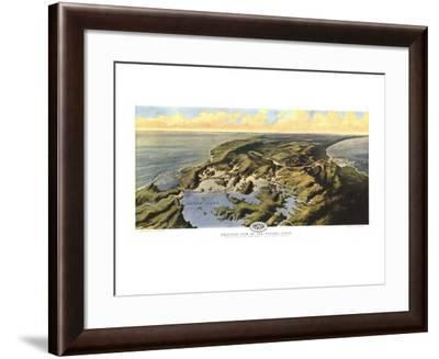 1912 Birds Eye View of the Panama Canal Map-National Geographic Maps-Framed Art Print