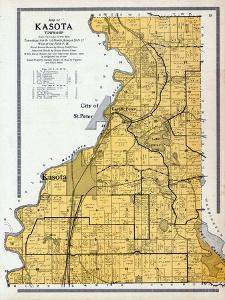1912, Kasota Township, St. Peter City, Long Lake, Emily, Minnesota River, Minnesota, United States