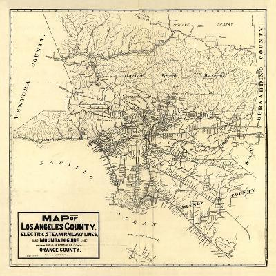 1912 LA Railway Map-N^ Harbick-Art Print