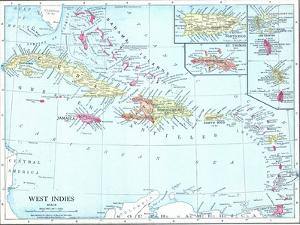 1913, Bahamas, The, Cuba, Dominican Republic, Jamaica, Puerto Rico, Central America, West Indies