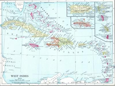 1913, Bahamas, The, Cuba, Dominican Republic, Jamaica, Puerto Rico, Central America, West Indies