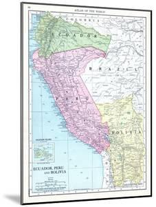 1913, Bolivia, Brazil, Ecuador, Peru, South America, Ecuador, Peru and Bolivia
