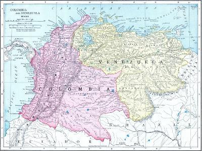 1913, Brazil, Columbia, Ecuador, Venezuela, South America--Giclee Print