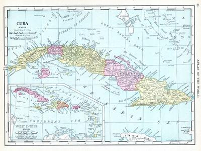photograph relating to Printable Map of Puerto Rico called 1913, Cuba, Dominican Republic, Jamaica, Puerto Rico, Central The usa Giclee Print by way of