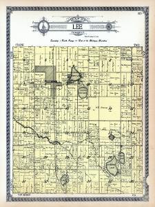 1913, Lee, Pullman, Lower Scott Lake, Upper Scott Lake, Osterhout Lake, Clear Lake, Michigan, USA