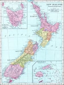 1913, New Zealand, Oceania, New Zealand, Tasmania and Fiji Islands