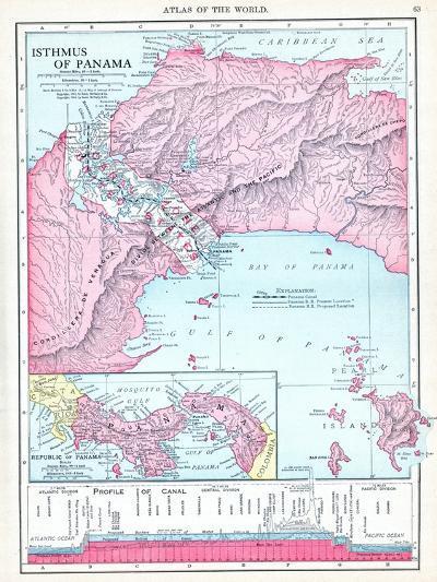 1913, Panama, Central America, Isthmus of Panama--Giclee Print
