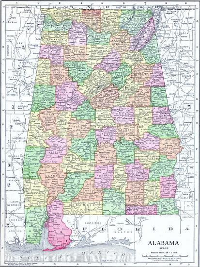 1913, United States, Alabama, North America Giclee Print by | Art.com