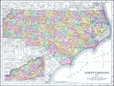 1913, United States, North Carolina, North America, North Carolina--Giclee Print