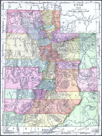 1913, United States, Utah, North America--Giclee Print